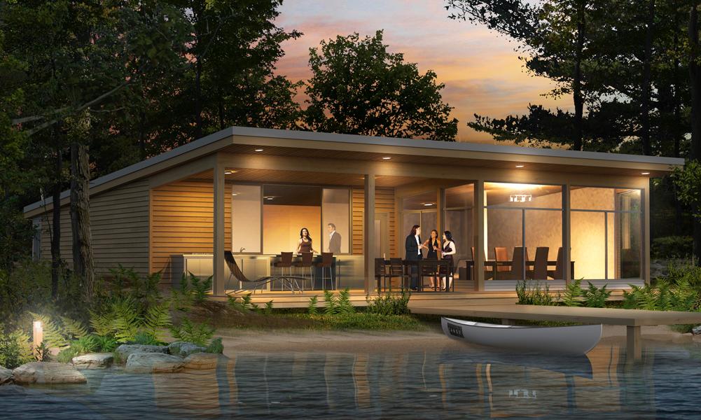 Construire une maison pour votre famille maison bois rond prefabrique for Prefabrique maison