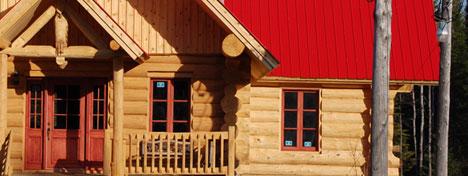 Les constructions de bois rond la cime inc maisons for Maison en bois ronde
